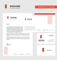 battery charging business letterhead envelope and vector image vector image