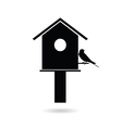 birdhouses with sparrow black vector image vector image
