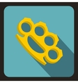 Brass knuckles icon flat style vector image vector image