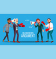 business argument web banner cartoon vector image vector image