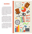 business office equipment finance and statistics vector image