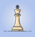 chess king flat icon vector image vector image