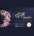 christmas background with tree cutout vector image vector image