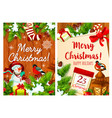 christmas winter holiday greeting card vector image vector image