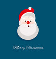 cute santa claus head vector image