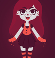 Cute Vampire Girl With Blood In Hands vector image