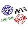 damaged textured bank scam stamp seals vector image vector image