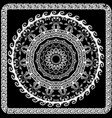 embroidery greek mandala pattern floral tapestry vector image