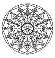 etched ornament star-shape panel is a 16th vector image vector image