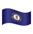 flag of kentucky waving on white background vector image