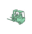 Forklift Truck Operator Mono Line vector image vector image