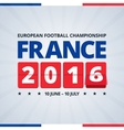 france 2016 euro football cup poster vector image vector image