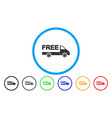free delivery car rounded icon vector image vector image