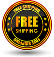 Free shipping tag vector image