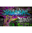 Graffiti wall art background vector image vector image