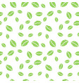 green mint leaves seamless pattern vector image