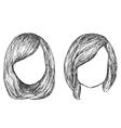 Hand drawn fashion hair styles sketch vector image