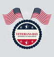 happy veterans day american flags celebration vector image vector image