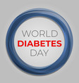 health diabetes day concept background cartoon vector image vector image