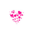 heart shapes background heart confetti burst vector image vector image
