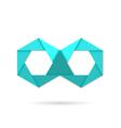 Hexagon infinity logo symbol vector image