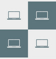 laptop icon simple vector image vector image