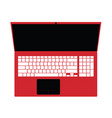 laptop red technology vector image vector image