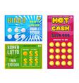 lottery ticket lucky bingo card win chance vector image vector image