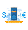 mobile banking application vector image vector image