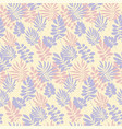 modern plant pattern pale color tropical leaves vector image vector image