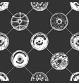 pattern with donuts vector image vector image