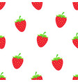 pattern with sweet red strawberry vector image vector image