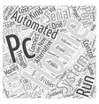 pc serial port home automation Word Cloud Concept vector image vector image