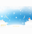postcard 2019 on the christmas and new year vector image vector image