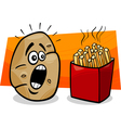 Potato with french fries cartoon