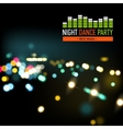 Realistic festival lights vector image vector image