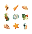 Realistic Tropical Icons Set vector image vector image