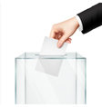 Realistic Voting Concept vector image vector image