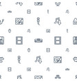 record icons pattern seamless white background vector image vector image