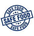 safe food blue round grunge stamp vector image vector image