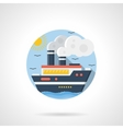 Sea cruiser color detailed icon vector image vector image