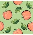 Seamless hand drawn apple pattern vector image