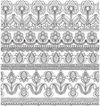 seamless pattern with hand drawn doodle vector image vector image