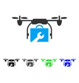 service drone flat icon vector image vector image
