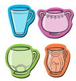 set with cups vector image