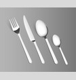 Silverware fork spoon cutlery isolated