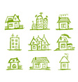 sketch art houses for your design vector image vector image