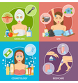 Skin And Body Cosmetology 2x2 Design Concept vector image vector image