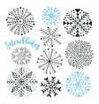 Snowflakes hand drawn collection Winter vector image vector image