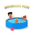 Summer Fun Concept in Flat Design vector image